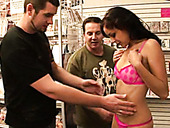 Filthy Chick Danni Cole Is Ready To Serve To Duds In The Shop