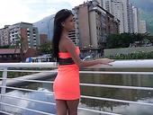 Sexy Latin Babe Denisse Gomez Strips And Masturbates Her Pretty Hot Pussy
