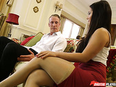 Jaw Dropping Brunette Eva Lovia Gives Her Head And Rides Dick