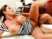 Busty Bodacious Mommy Eva Notty Gets Fucked In Sideways Pose