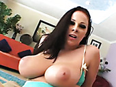 Chubby Happy Brunette Hoe Gianna Michaels Rides Fat Prick Madly On Top