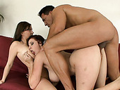 Gianna Michaels, Her Friend And His Dick Make Long Chain Of Fuckers