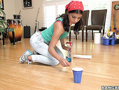 Brazilian Cleaning Girl Gina Valentina Is Fond Of Big And Meaty Shlong