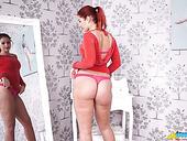 Shameless Brunette Harley Shows Her Big Booty