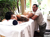 Young Masseur Can't Resist Sex-appeal Ebony Hottie Honey Gold And Fucks Her Hard