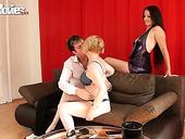 Perverted Wife Larissa Gold Enjoys Watching How Husband Fucks Prostitute