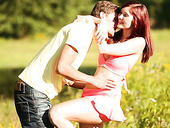 Oversexed Red Haired Girlfriend Kate Gold Is Having Passionate Outdoor Sex