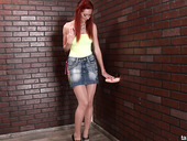 Red Haired Hooker Kate Gold Gets Messy Facial In The Glory Hole Room