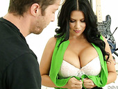 Oversexed Milf Lacie James Shows Her Big Tits And Seduces Young Dude
