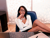 Skinny Brunette In Glasses Janice Griffith Is Impaled On A Hard Thick Penis