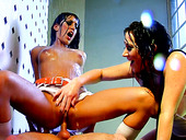 Jayden James And Lyla Storm Have Threesome In Shower Room