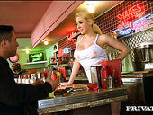 Stunning Hottie Kagney Linn Karter Enjoys Having Sex With Kinky Barman