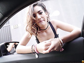 Nasty Spanish Chick Penelope Cum Gives A Blowjob In The Car And Gets Her Slit Rammed Indoor