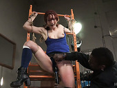 Tied Up And Suspended Red Haired Whore Violet Monroe Gets Punished
