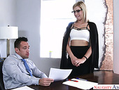 Seductive Secretary Zoey Monroe Enjoys Having Nookie With Her Boss