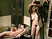 Jamie Summers, Kim Angeli And Tom Byron In The Hottest Classic Porn Scene