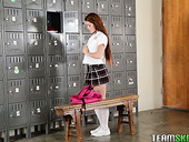 Basketball Player Fucks Yummy Cheerleader Kimberly Brix In The Locker Room
