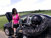 Fucking Hot Brunette Abbie Cat Is Fucked By Brutal Black Biker