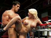 Sweaty Dude Looking Much Alike To Silvester Stalone Fucking Horny Madison Ivy On A Boxing Ring