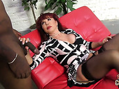 Cougar Red Head Vanessa Is Fucked Hard By Hot Tempered Mandingo