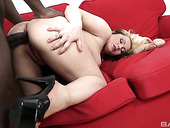 Blond Chubby Chick Kika Gets Her Anus Rammed By One Hot Blooded Mandingo