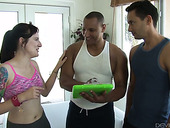 Two Bisexual Studs Fuck Naughty Hottie With Tattoos Maci May