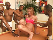 Many Black Dudes Fuck Tanner Mayes Right On The Billiard Table