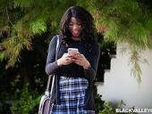 Ebony Student Mya Mays Gets Her Twat Fucked By White Neighbor