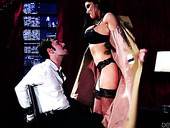 Stunning Hottie In Sexy Lingerie And Stockings Romi Rain Gives Blowjob To Tied Up Dude