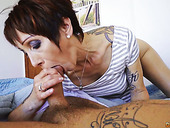 Tattooed Old Slut Catalya Mia Gives Her Head And Gets Fucked Early In The Morning