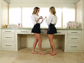 Delicious Babe Mia Malkova And Her GF Are Making Love In 69 Style Pose