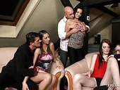 Nasty Chick Kitty Jane And Her Girlfriends Arrange Dirty Orgy At Home