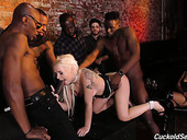 Slutty Wife Bella Jane Is Fucked By Several Black Dudes In Front Of Her Cuckold Man