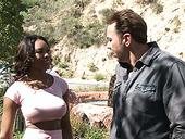 Horny Ebony Babe With Big Boobs Nadia Jay Seduces White Neighbor