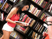 Young Brunette Nadia Valdez Is Fucked Hard Right In The Library