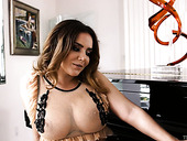 Ample Breasted Milf Natasha Nice Gives A Blowjob And Titjob In Hot POV Clip