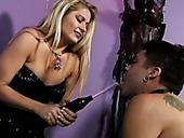 Tough Mistress Nicolette Toy Fucks Submissive Sex Slave