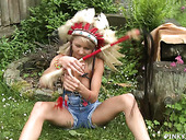 Playful Babe Pinky June Is Playing With Her Charming Whorish Pussy