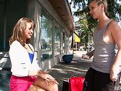 Whorish Lesbian Chick Wearing Strapon Fucks Pretty Hot Babe Riley Reid