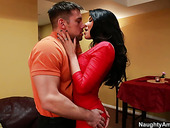 Latin Sexpot Romi Rain Mouth Fucks Hard Cock With Sensual Mouth
