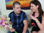 Juggy Milf Sara Jay Provides Young Dude With A Great Blowjob