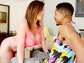 Brown Haired Slut Sara Jay Allows BBC To Play With Her Jugs