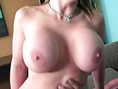 Mega Busty Slutty MILF Sara Jay Rides Big Hard Cock Greedily