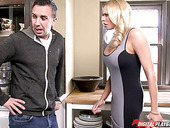 Bombshell Briana Banks Masturbates Slit On The Kitchen Table Before Crazy Sex