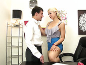 Stunning Milf Sarah Vandella Is Testing Cock Of A New Co-worker