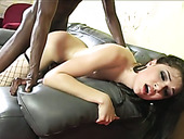 BBC Fucks And Chokes Lustful Brunette Chick Sasha Grey