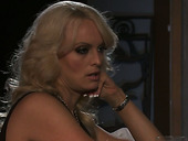 Horny Blonde Milf Stormy Daniels Takes Guy Out Of Club To Fuck