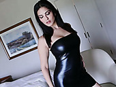 Appetizing Well Stuck Brunette Sunny Leone Gets Rid Of Dres And Masturbates