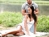 Sensual Angel Victoria Sweet Enjoys Riding Big Dick Outdoor