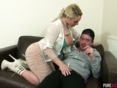 Salacious Blonde With Huge Boobs Victoria Summers Seduces One Kinky Dude